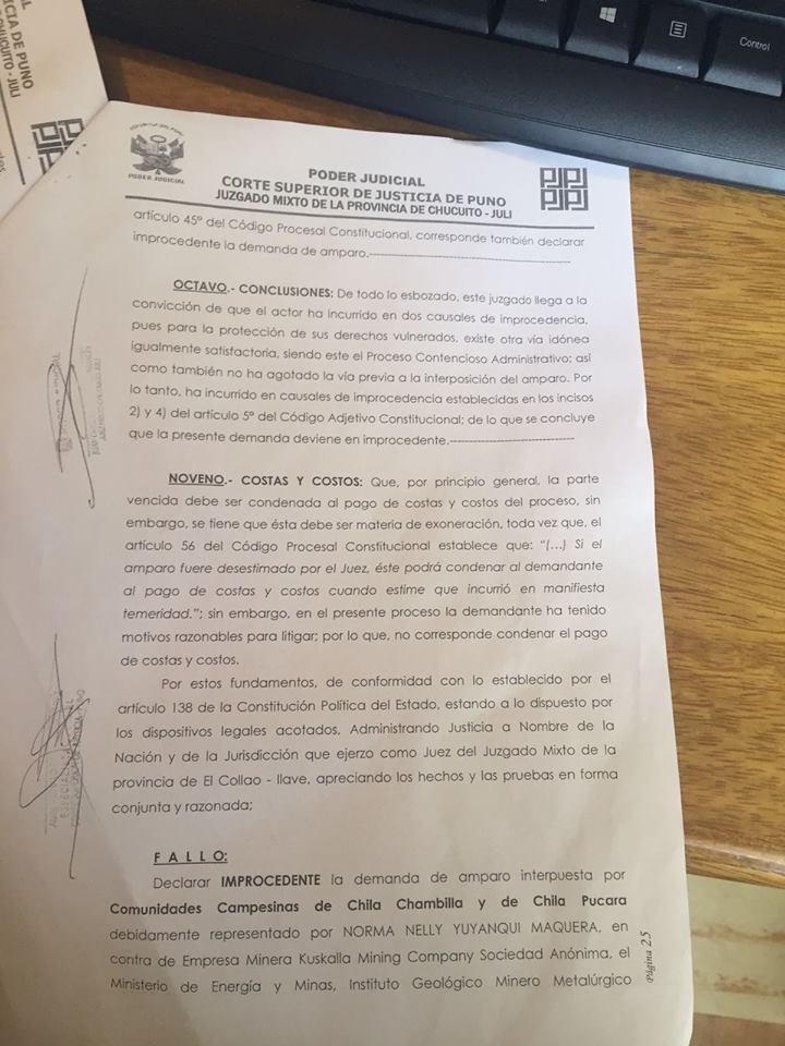 Corte Superior de Justicia de Puno